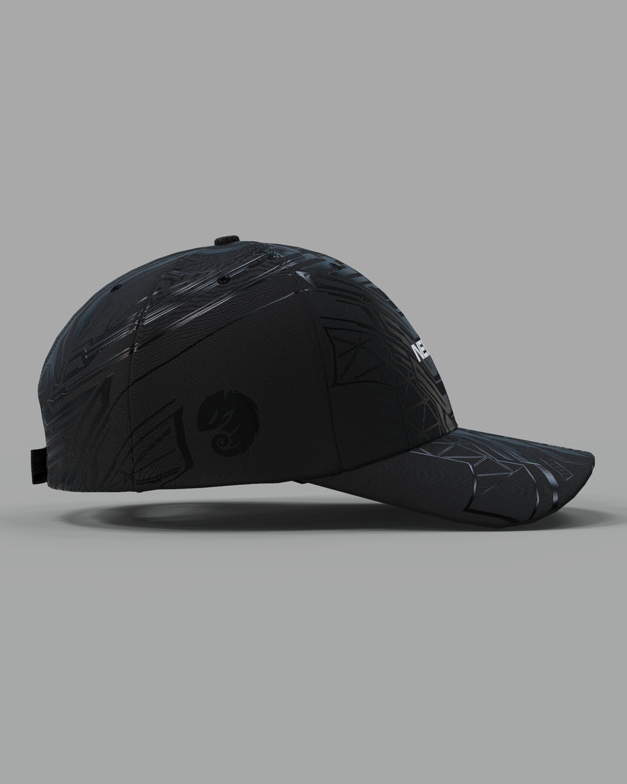 Particle Collider black curved bill