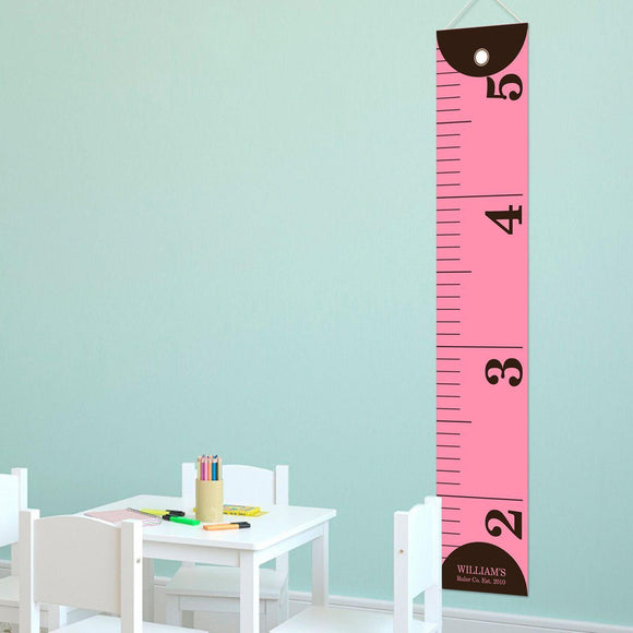 Personalized Ruler Growth Chart for Girls - Height Chart for Girls