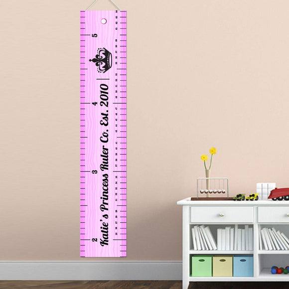 Personalized Ruler of this Room Growth Chart for Girls - Ruler Height Chart