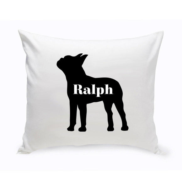 Personalized Throw Pillow - Dog Silhouette - Personalized Dog Gifts