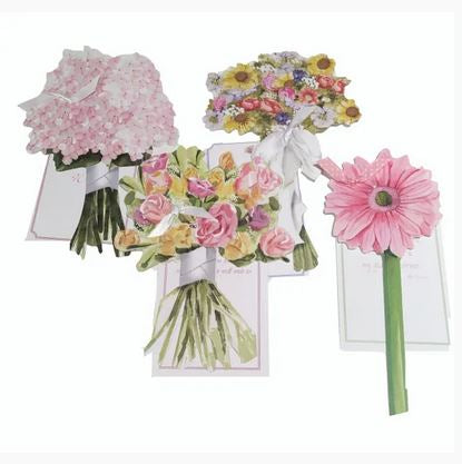 Assorted die cut greeting cards