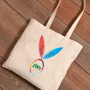 Personalized Easter Canvas Bag - Bunny Ears