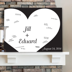 Personalized Guestbook Canvas - Always in Love