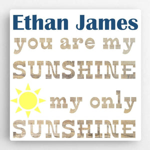 Personalized Boy Canvas Sign-Sunshine