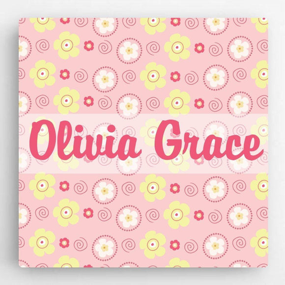 Personalized Pattern Girl Canvas Sign