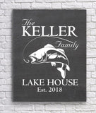 Personalized Lake House Canvas Sign