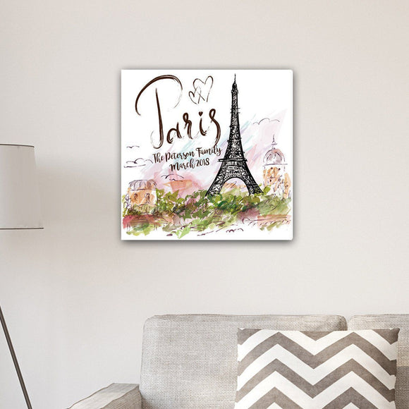 Personalized Paris Canvas