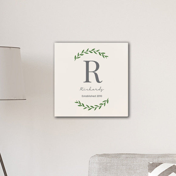 Personalized Family Initial Vine 18