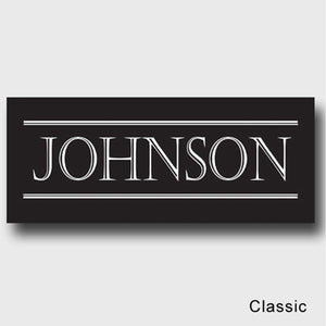 Personalized Family First Canvas Sign - Classic, Elegant, or Script