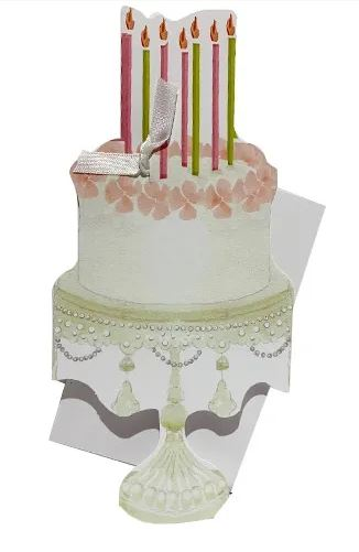 Die Cut Cake Birthday Card -