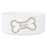 Personalized Large Dog Bowl - Bright Treats
