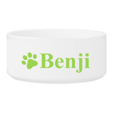 Personalized Large Dog Bowl - Happy Paws