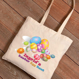 Personalized Easter Canvas Bag - Easter Eggs