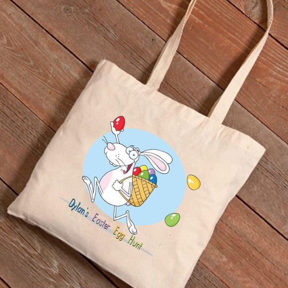 Personalized Easter Canvas Bag - Egg Hunt
