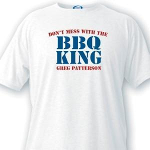 Personalized BBQ King Guys White T-Shirts