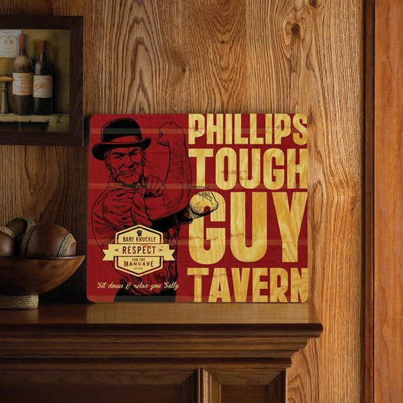 Personalized Wood Tavern and Bar Sign - Tough Guy