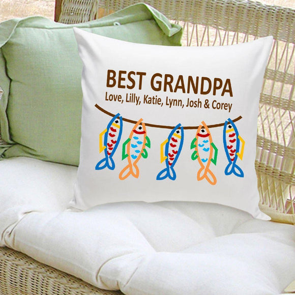 Personalized Parent Throw Pillow - Grandpa's Crew