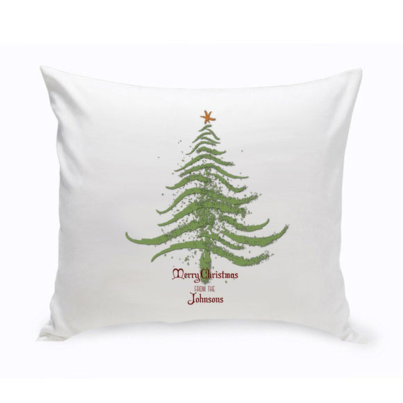 Personalized Vintage Christmas Throw Pillow - All