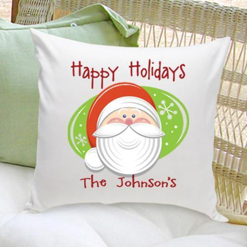 Personalized Holiday Santa Throw Pillows