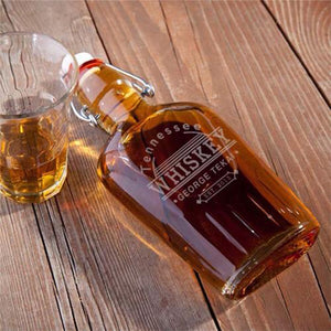 Personalized Flasks - Glass - Tennessee Whiskey - Groomsmen Gifts