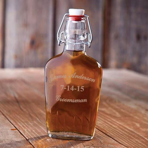 Personalized Flasks - Glass - Vintage - Groomsmen Gifts