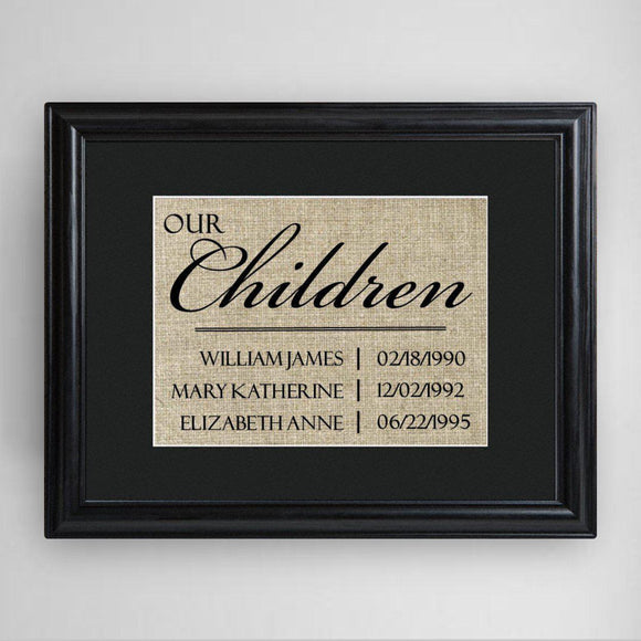 Personalized Our Children Framed Print