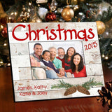 Personalized Rustic Holiday Picture Frame - All