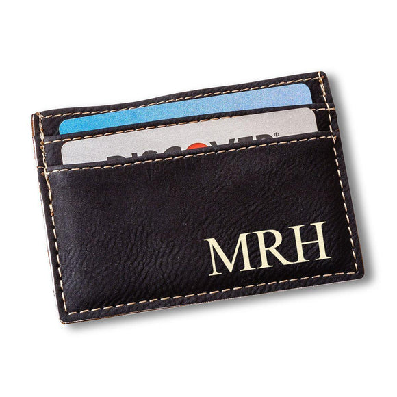 Personalized Black Money Clip & Card Holder
