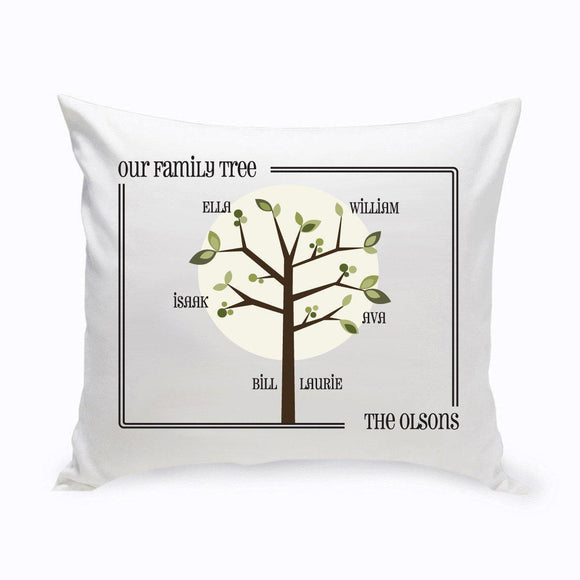 Personalized Family Tree Throw Pillow