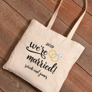 Personalized Tote Bag - We're Married