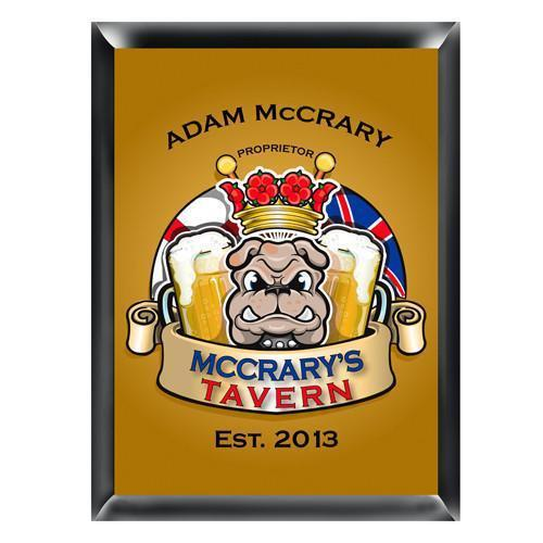 Personalized Traditional Pub Sign - Bulldog