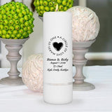 "Personalized Wedding Candle - Unity Candle - Personalized 3""x 9"" Candle"