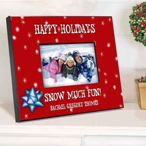 Personalized Family Red Holiday Frame