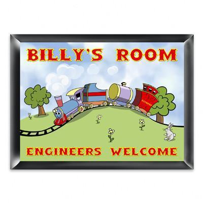 Personalized Kid's Room Signs - Choo Choo