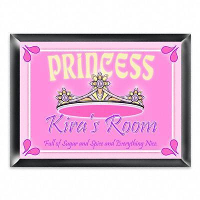 Personalized Kid's Room Sign - Princess