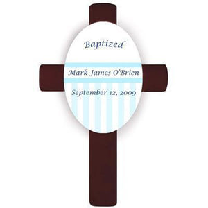 Personalized Children's Cross - Blue