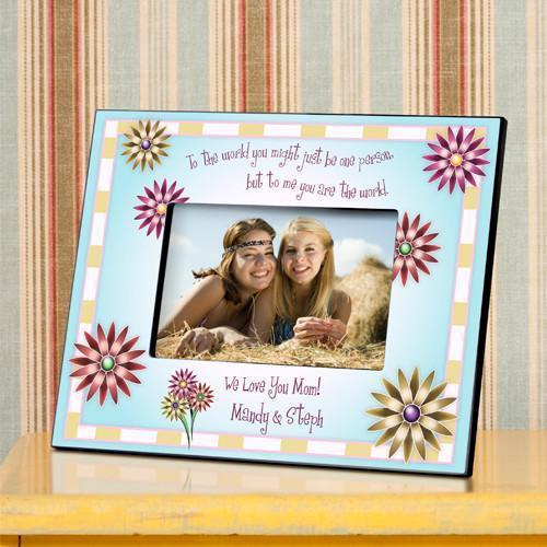 Personalized Mothers Poem Frame - You Are The World To Me