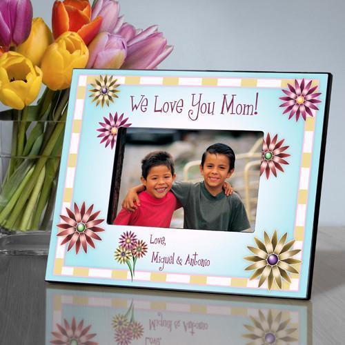 Personalized Mom in Flowers Frame