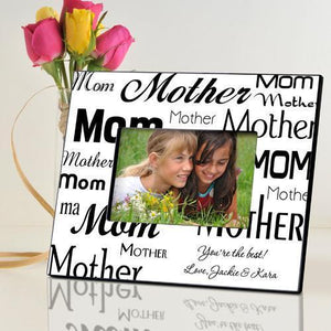 Personalized Mom-Mother Frame - Black/White