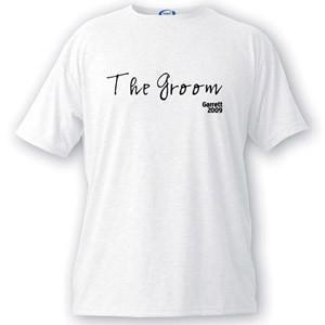 Personalized Script Series Groom T-Shirt