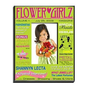 Personalized Flower Girl Magazine Frame - Green