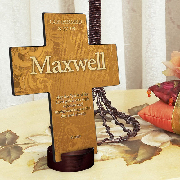 Personalized Gardens of Grace Cross with Stand