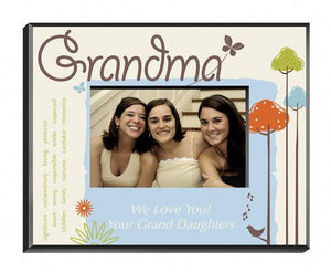 Personalized Nature's Song Picture Frame - Grandma