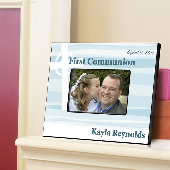 Personalized First Communion Picture Frame-Celtic Blessings