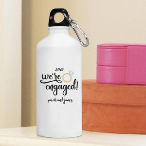 Personalized Water Bottle -We're Engaged