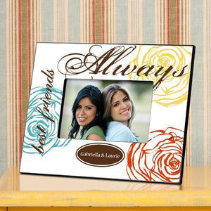 Personalized Picture Frame - Forever Friends Colorful Bouquet