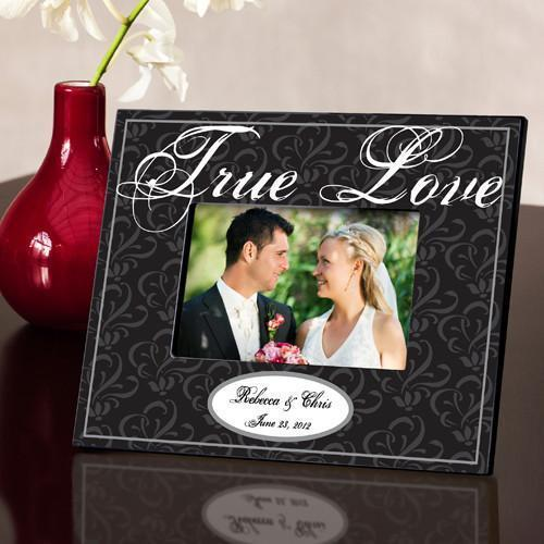 Personalized Couple's Frame - True Black