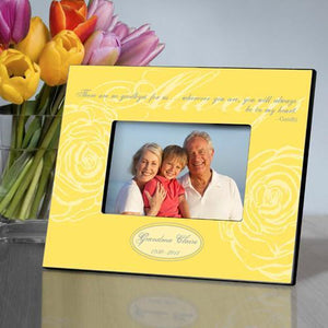 Personalized Always Memorial Picture Frame - Yellow