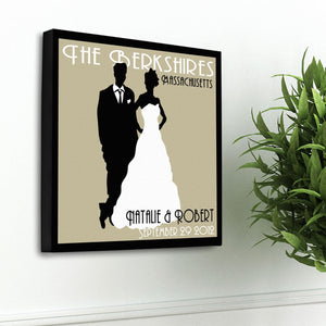 Personalized Couples Studio Canvas Sign
