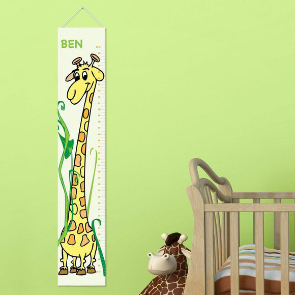 Personalized Giraffe Growth Chart for Boys - Giraffe Height Chart